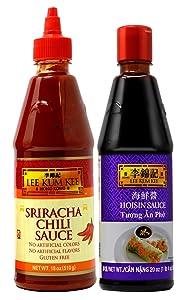 Lee Kum Kee Sauce Choices - Hoisin Sauce / Sriracha Chili Sauce Best For Vietnamese Tuong An Pho (Hoisin Sauce + Sriracha Chili Sauce)