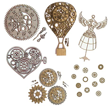 Amazon.com: Steampunk Scrapbook Embellishments Collection ...