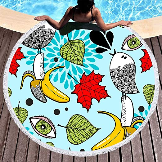 Ronda Multifuncional Tapiz de playa Estera de yoga Toalla de ...