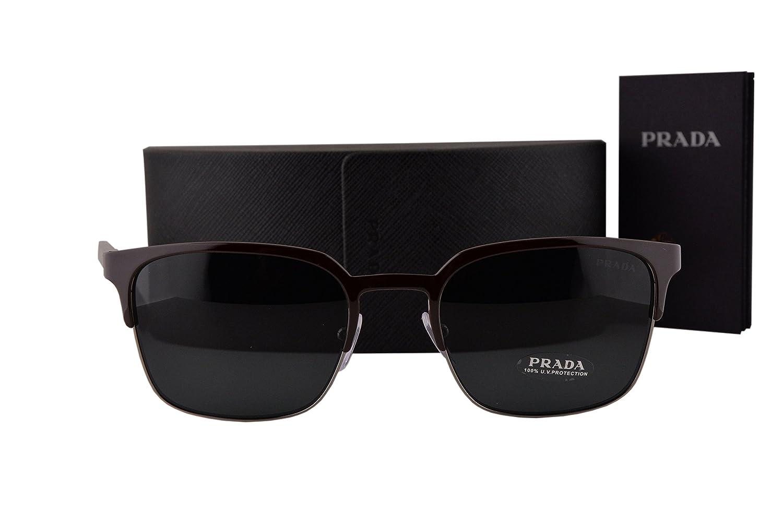 Amazon.com: Prada anteojos de sol pr61ss café Oscuro Gray w ...