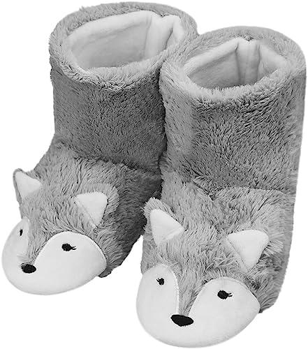Renard Chaud Mignon Femmes JIAHFR Chaussons d'hiver Peluche Maison Bottes Polaire Bottes Pantoufles en Femme Chaussures vNnwm80O