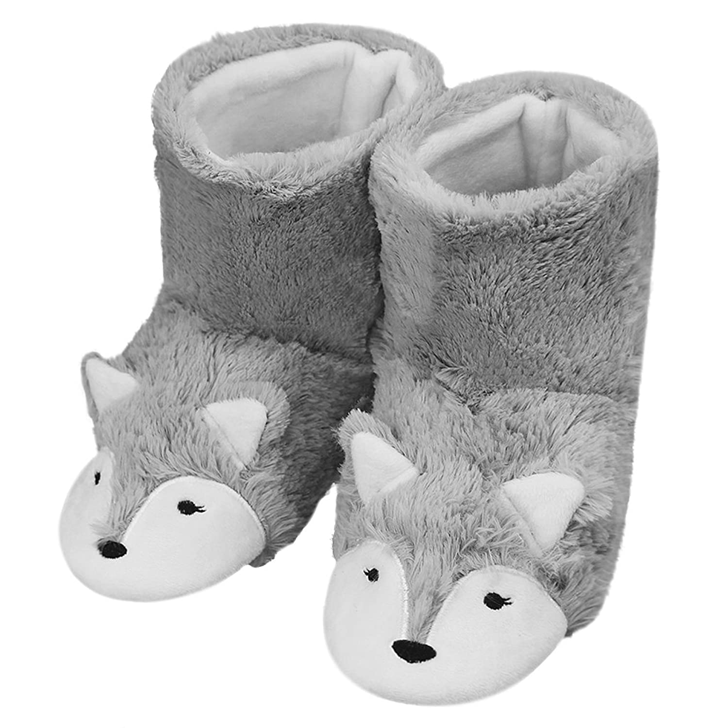 cd10304d0ea2 Fakeface Womens Mens Indoor Warm Fleece Slippers