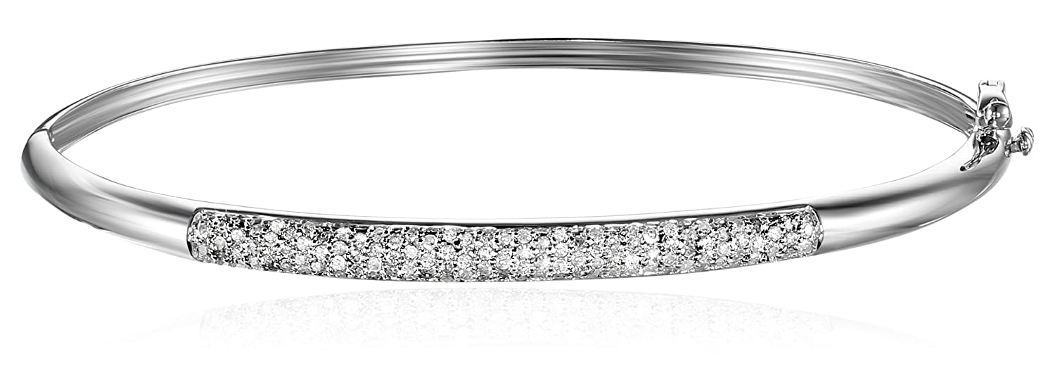 inch bracelet silver diamond ct bangles womens white mm gold bangle