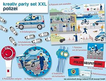 Polizeiparty-Set-XXL