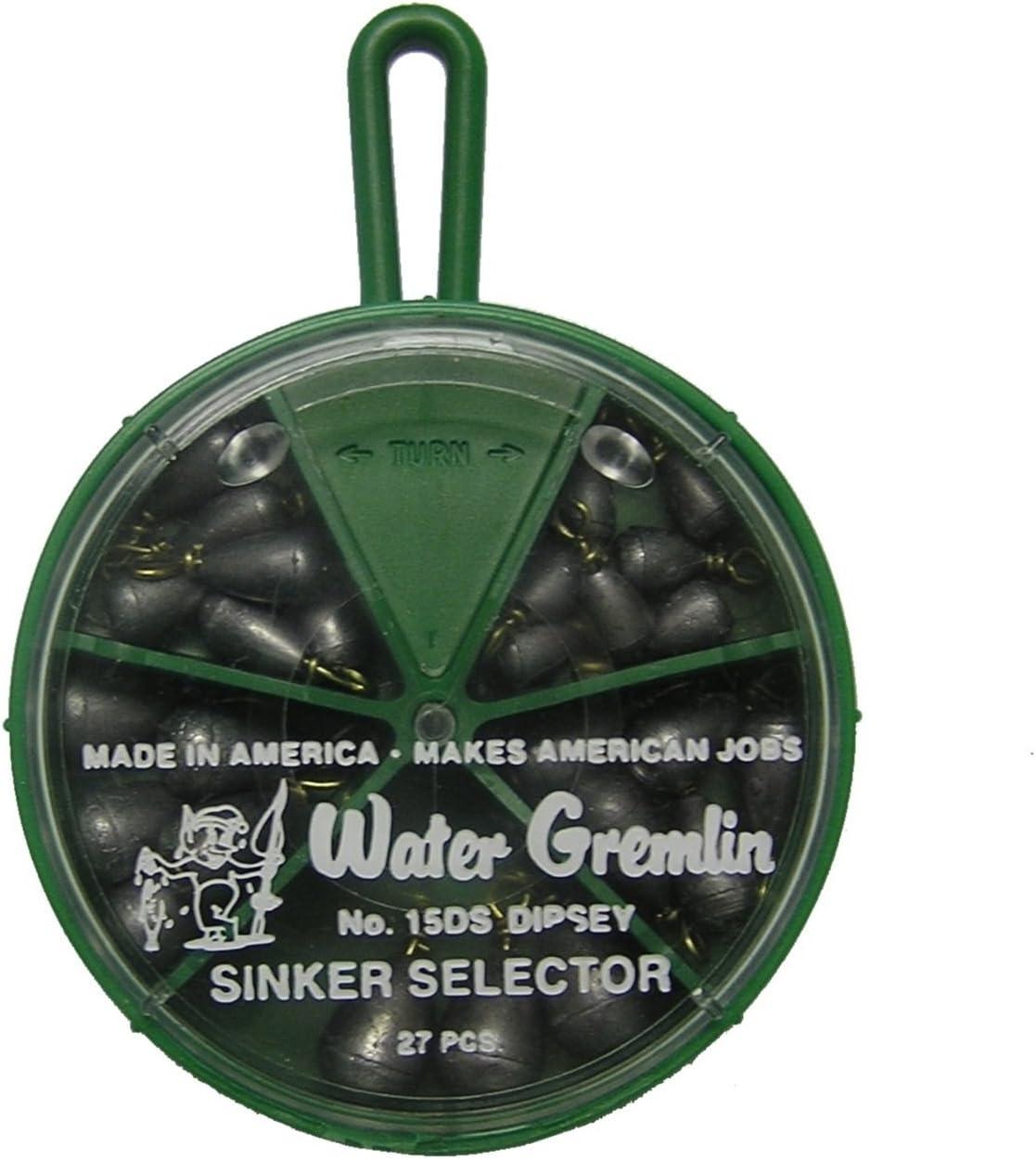Details about  /12 WATER GREMLIN 3 oz.BULK BAG,BASS CAST-BELL SINKER DIPSEY SWIVEL Bottom