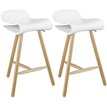 2xhome   Set Of Two(2)   White   26.5 Inches Bar Stool Counter