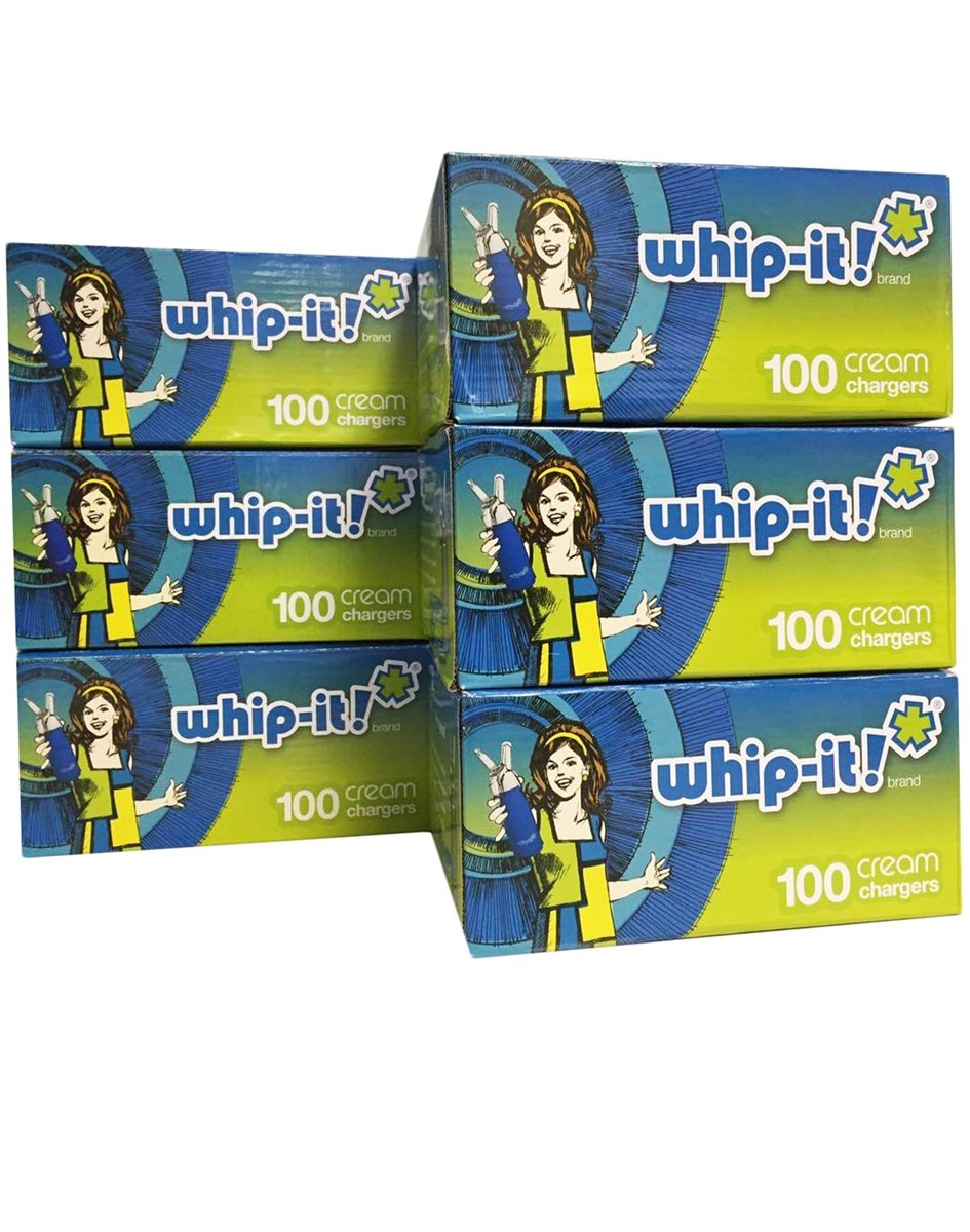 Whip-it! Whipped Cream Chargers (100 Pack) (Case of 600), White by Whip-it!