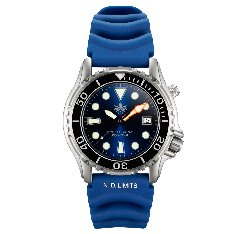Phoibos Men s PX005B 1000M Dive Watch Swiss Quartz Blue Sport Watch