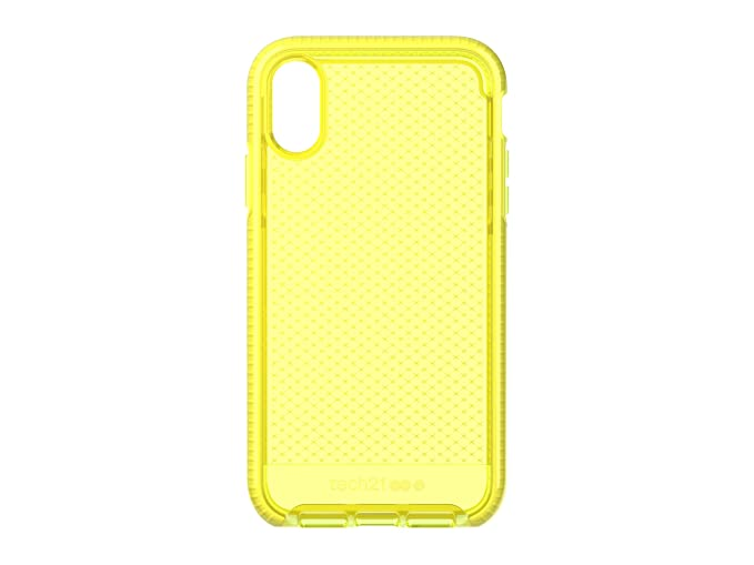 new style 48a95 ebfa6 tech21 - Evo Check Case - for Apple iPhone XR, Neon Yellow