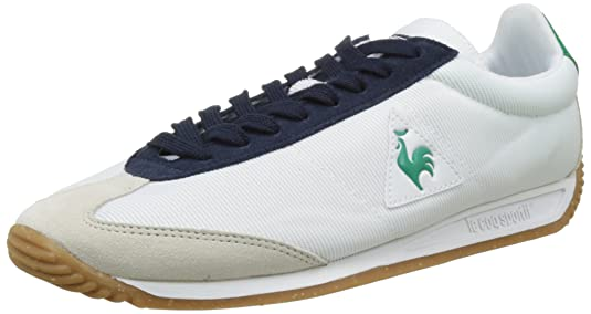 Unisex Adults Quartz Speckel Gum Low-Top Sneakers, Optical White/Dress Blue Le Coq Sportif
