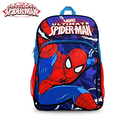 MWS2928 SP16102 Mochila escolar adaptable para carro de Spiderman 42x31x12 cm