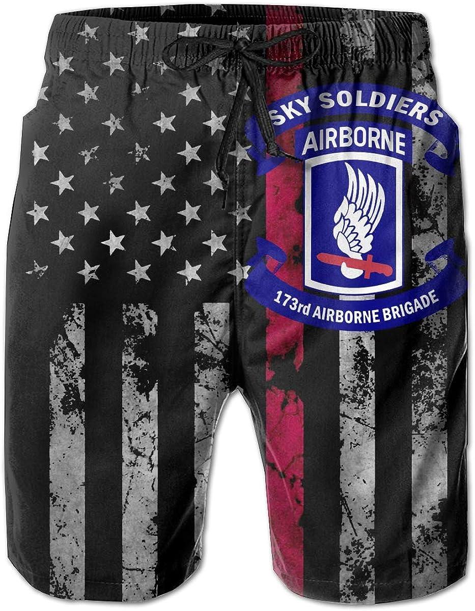 Trikahan Army 173rd Airborne Brigade Mens Beach Shorts Swim Trunks Casual Shorts Running Shorts