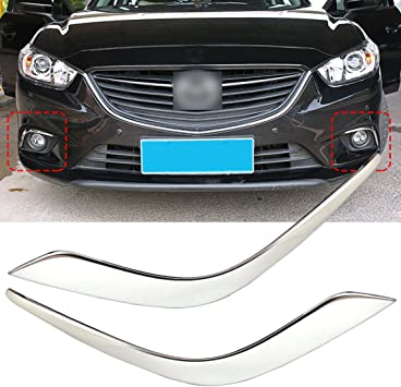 For Honda Accord 2013-2016 Chrome Front+Rear Reading Light Lamp Cover Trim 2Pcs