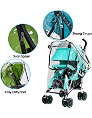 Borlai Baby Mosquito Net Waterproof, Windproof Protection Rain Cover Mosquito Net Stroller Rain Cover Travel-Friendly for Outdoor Indoor