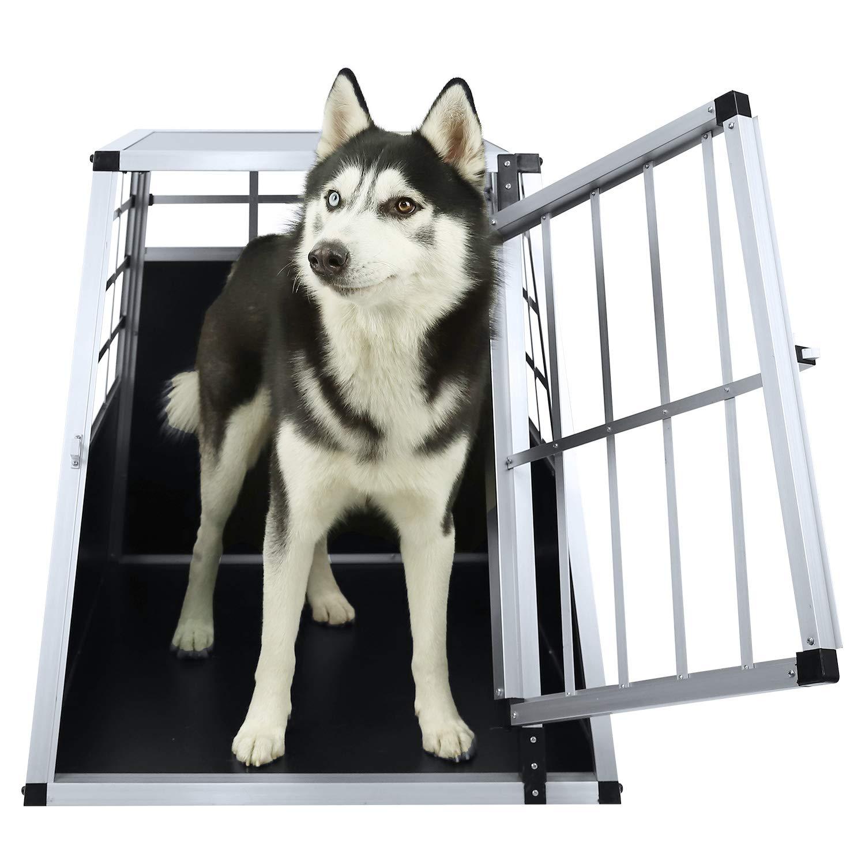 Alu Hundetransportbox Hundbox Auto mit MDF Platten in 4 Gr/ö/ßen