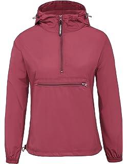 GRACE KARIN Women s Lightweight Waterproof Hooded Windbreaker Jacket  Raincoat 594100a3e