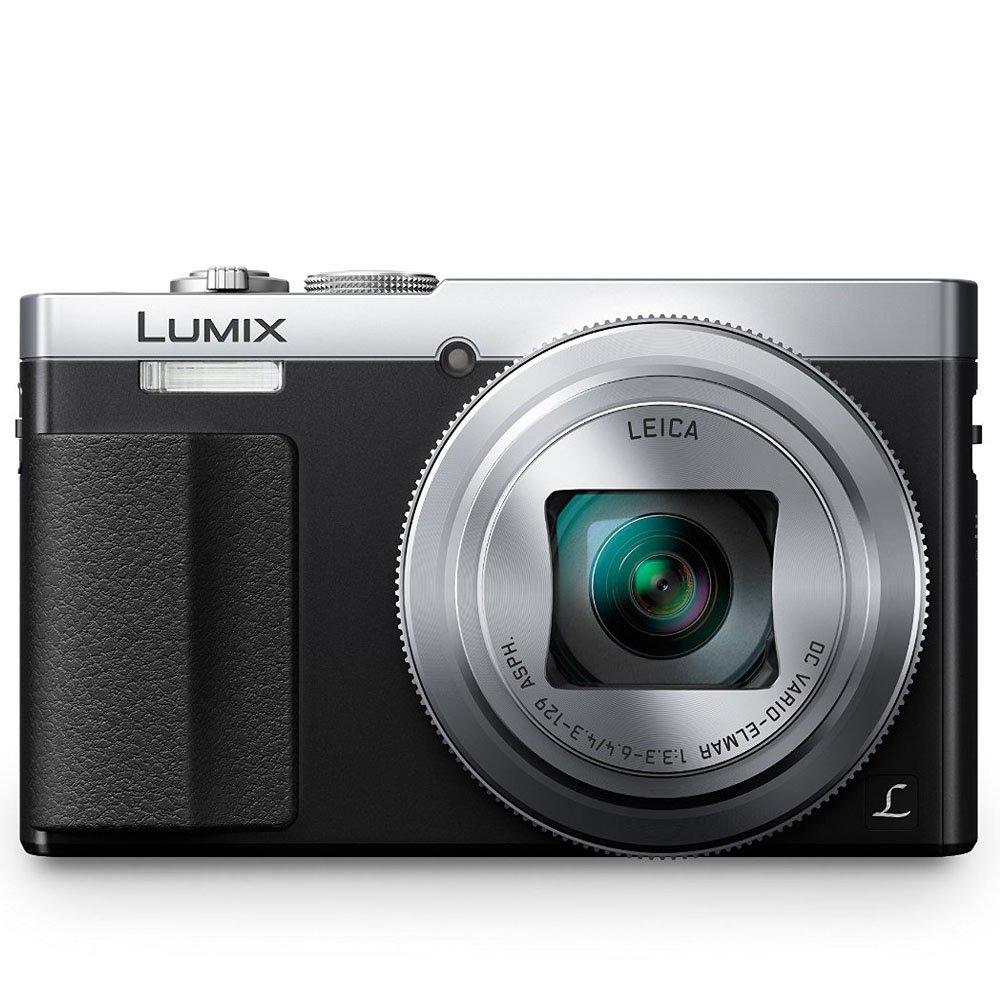 PANASONIC LUMIX ZS50 Camera, 30X LEICA DC Vario-ELMAR Lens, 12.1 Megapixels, High Sensitivity Sensor, Eye Viewfinder, DMC-ZS50S (USA SILVER) by Panasonic