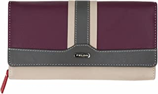 Felda Ladies Genuine Leather Long Purse - RFID Protection and 16 Card Slots 10437771