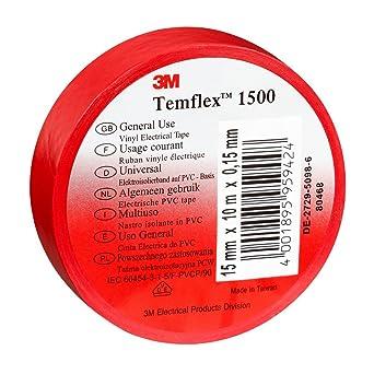 საიზოლაციო ლენტა წითელი,Temflex 1500 15მმ*25მ