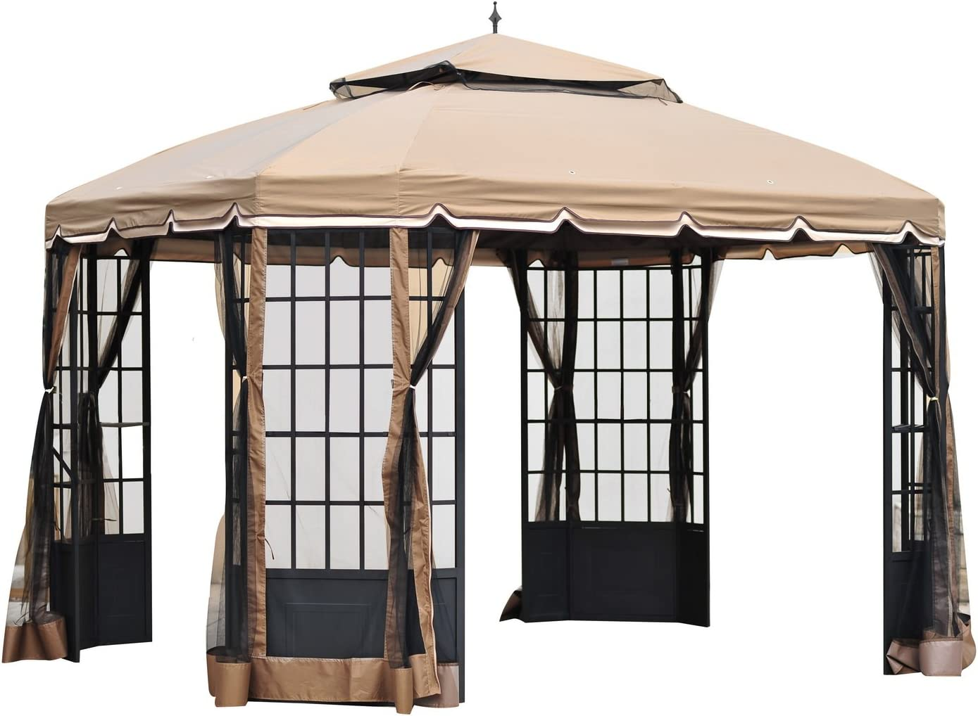Sunjoy 110109159 Cambridge Gazebo toldo de Repuesto Set: Amazon.es: Jardín