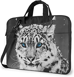Laptop Bag 15.6 Inch Laptop Sleeve Case with Shoulder Straps & Handle/Notebook Computer Case Briefcase Compatible with MacBook/Acer/Asus/Hp - Snow Leopard