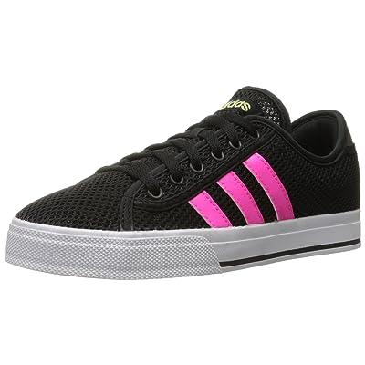 Amazon.com | adidas NEO Women's Daily Bind Skate Shoes, Core Black/Shock Pink, 9.5 M US | Fashion Sneakers