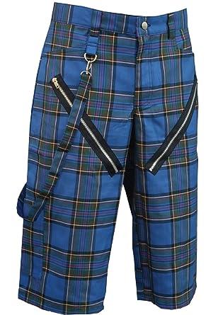 Nix Gut - Tartan, Short im Straight-Fit-Style, Farbe: Blau