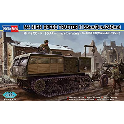 "Hobby Boss M4 High Speed Tractor Vehicle Model Building Kit, 155mm/8""/240mm: Toys & Games"