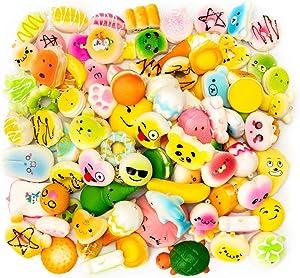 M-Gigi Random Squishy Cream Scented Slow Rising Kawaii Simulation Bread Children Toy, Soft Squishy Cake/Panda/Bread/Buns Phone Straps, Jumbo/Medium/Mini, 20 Piece