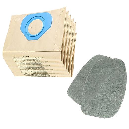 SPARES2GO Pack de 2 filtros y 5 bolsas para aspiradoras ...