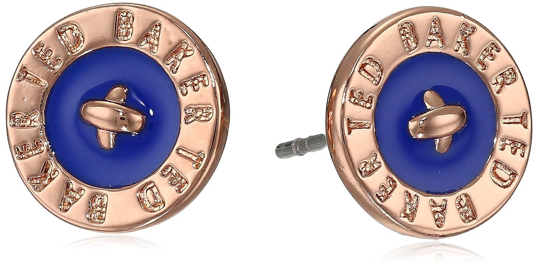 4a9faf93e Ted Baker Enamel Logo Button Tempany Blue Stud Earrings: Amazon.co.uk:  Jewellery