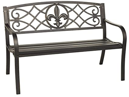 Wondrous Coral Coast Coral Coast Royal 4 Ft Curved Back Garden Bench Antique Black Metal Dailytribune Chair Design For Home Dailytribuneorg