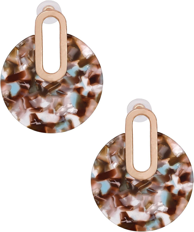 Women Boho Geometric Drop Dangle Acrylic Resin Ear Stud Earrings Jewelry Gift