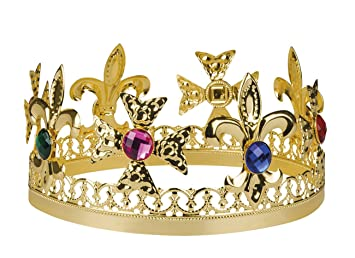Corona De Rey Con Joyas Falsas Adulto Amazones Juguetes Y Juegos