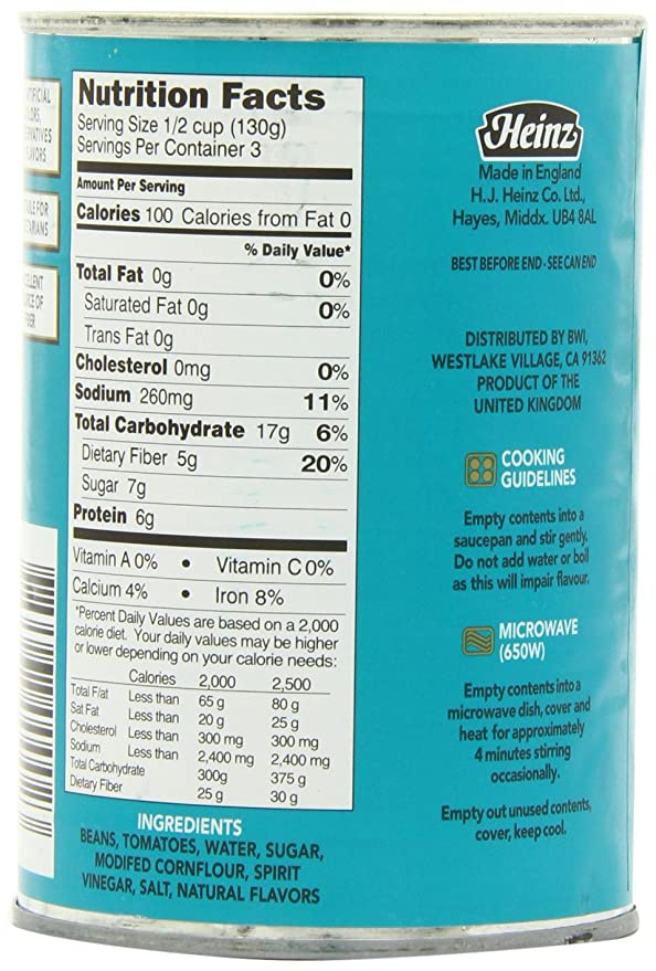 Amazon Com Heinz Beans In Tomato Sauce 13 7 Ounce Cans Pack Of 12 Packaged Baked Beans Grocery Gourmet Food