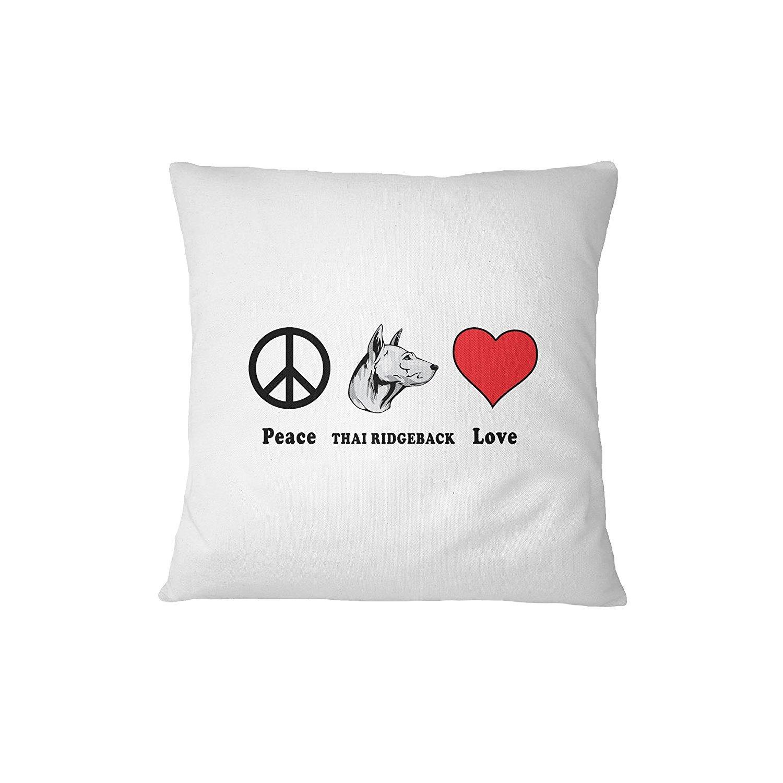 THAI RIDGEBACK DOG Peace Love Sofa Bed Home Decor Pillow Cover Pillow & Cover Set RENJUNDUN by RENJUNDUN