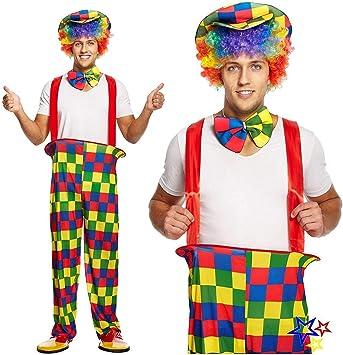 Adulto Hombre arcoiris de color Payaso Disfraz - Talla Única ...