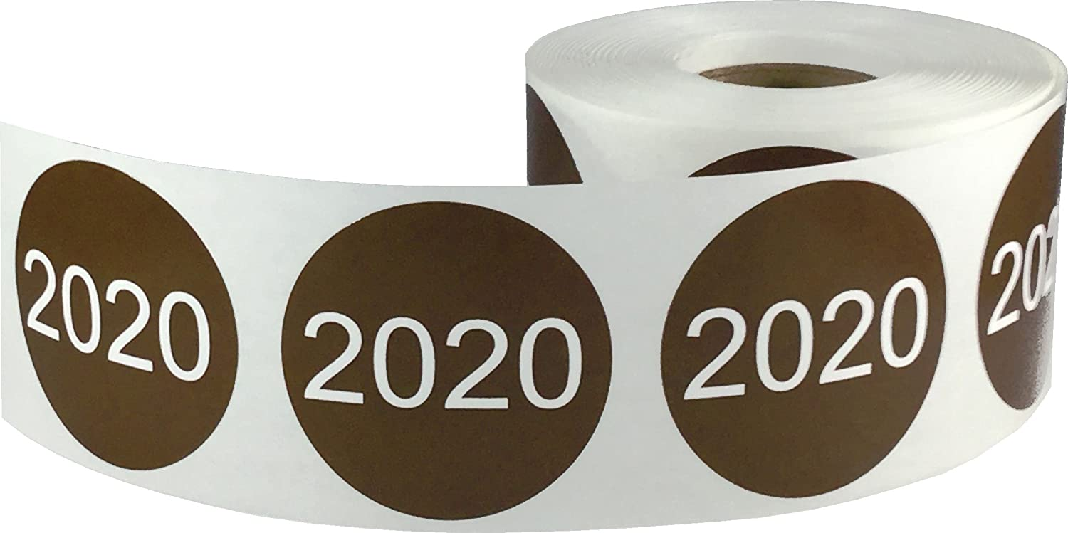 500 Labels on a Roll 1.5 Inches Round Red 2019 Circle Stickers