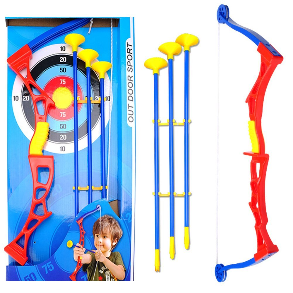 OSOPOLA Kids Archery Set Target Arrows Suctions Cups Bows Toys Sports Competition Games with 3 Arrows 1 Target 1 Bow (Black)