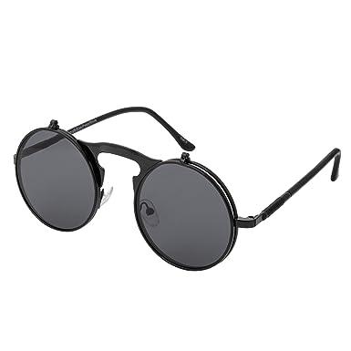 Ultra Marco Negro con Lentes Negro Gafas de Sol Flip-Up ...