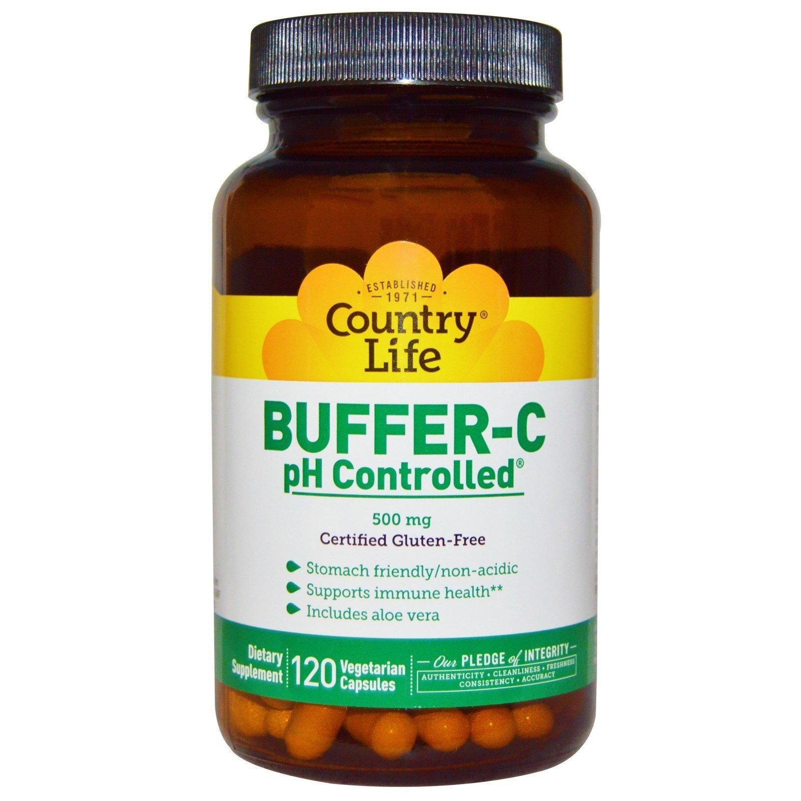 COUNTRY LIFE Vitamins Buffer C,PH CNTRLD,500 MG, 120 VCAP