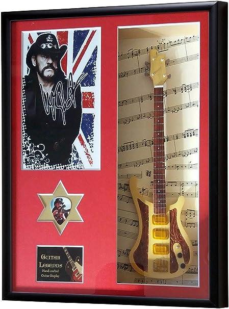 Lemmy Motorhead Miniatura guitarra enmarcado pantalla: Amazon.es ...