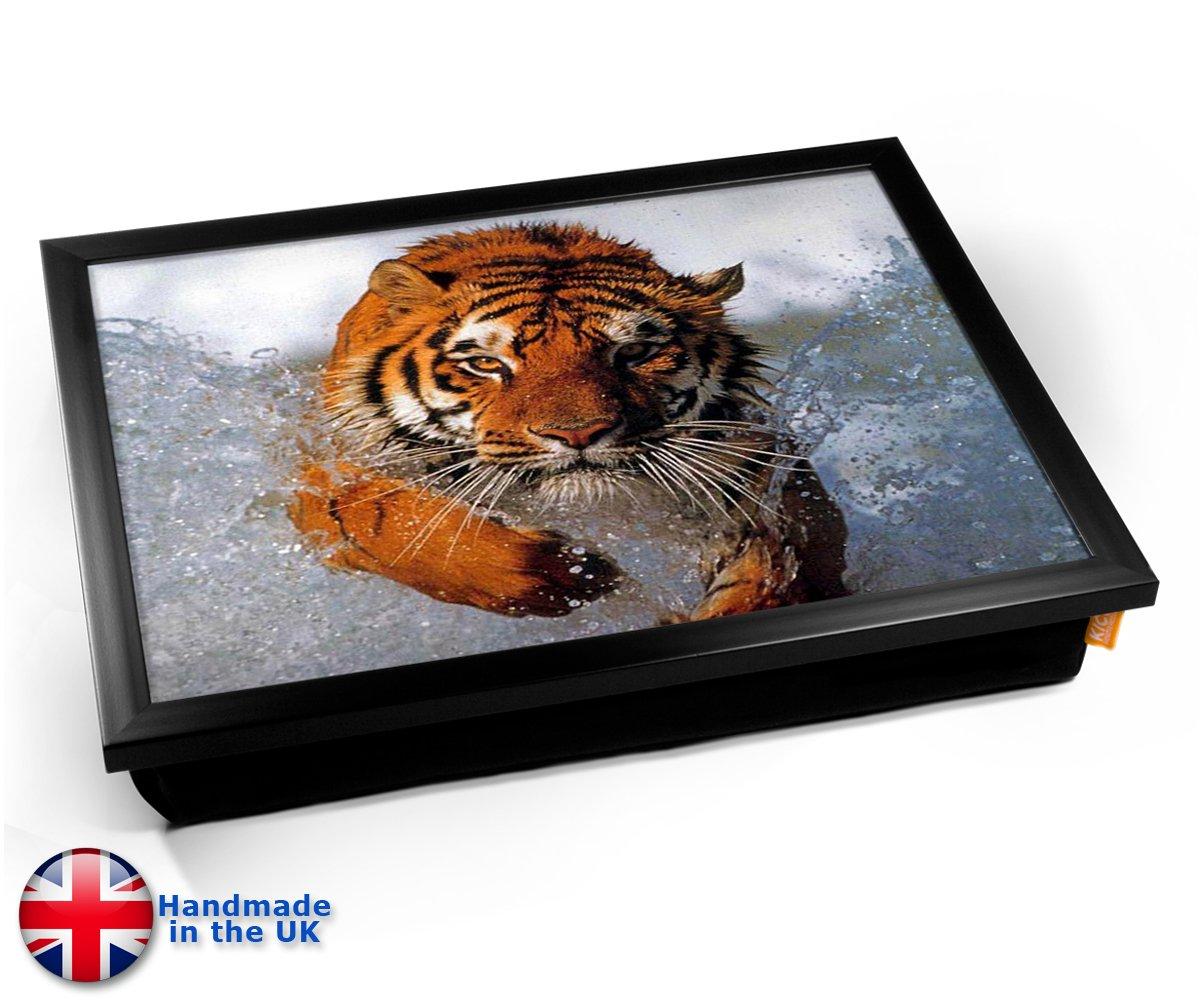 Siberian Tiger in Water Cushion Lap Tray Cojín Bandeja de ...