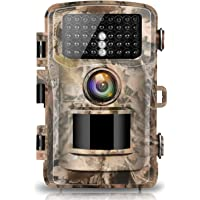 Campark Camera de Chasse 12MP 1080P Etanche IP56 Faune Chasse Scoutisme Détecteur de Mouvement Grand Angle 120 ° Vision Nocturne Infrarouge Surveillance à Domicile