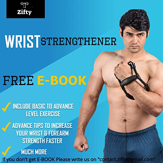 f52abf4ce51 Buy Zifty Adjustable Forearm Strengthener Equipment with Free E-Book. for  Muscular Wrist and Forearm
