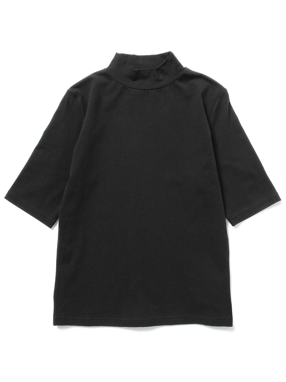 Amazon | (レイビームス) Ray BEAMS ベア天竺 ハイネック 5分袖 63040181933 BLACK | Amazon Fashion 通販