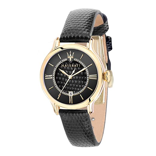 MASERATI Reloj Analógico para Mujer de Cuarzo con Correa en Cuero R8851118501: Amazon.es: Relojes