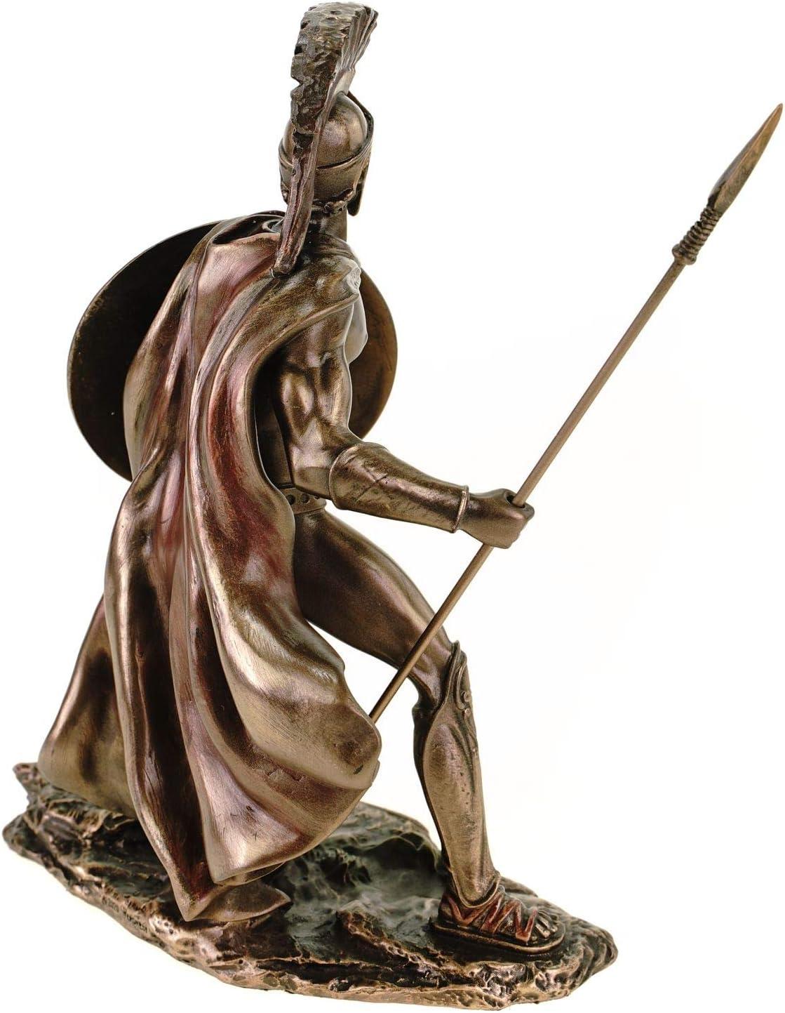Veronese Leonidas Figurine avec plaque et lance 19 cm