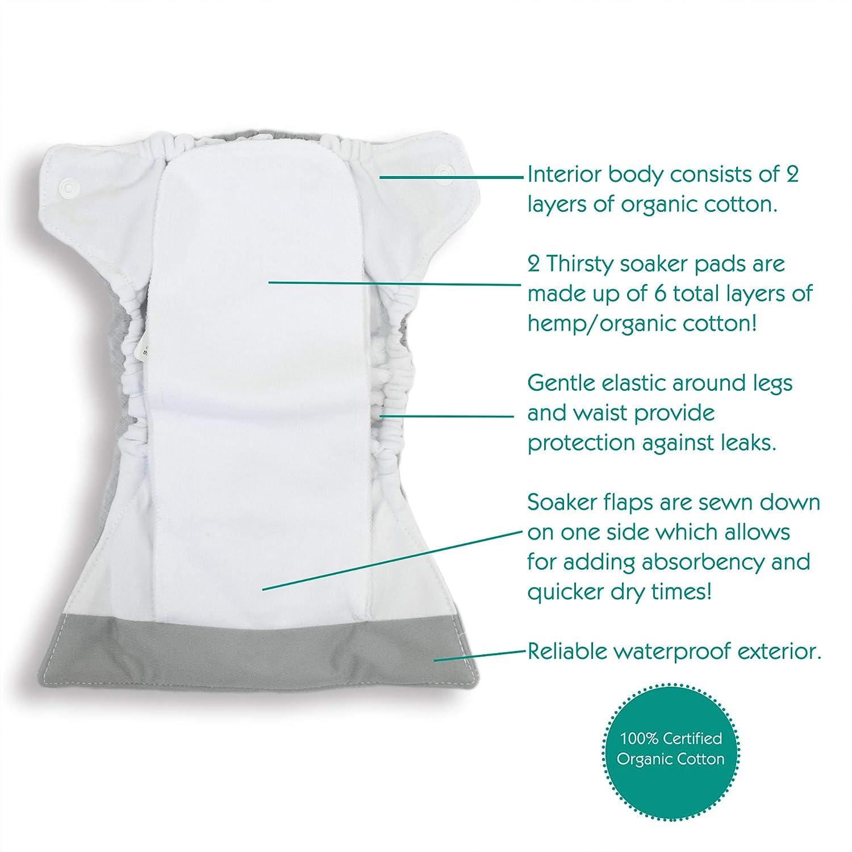 Snap Closure 5-14 lbs Thirsties Natural Newborn All in One Cloth Diaper Arthropoda