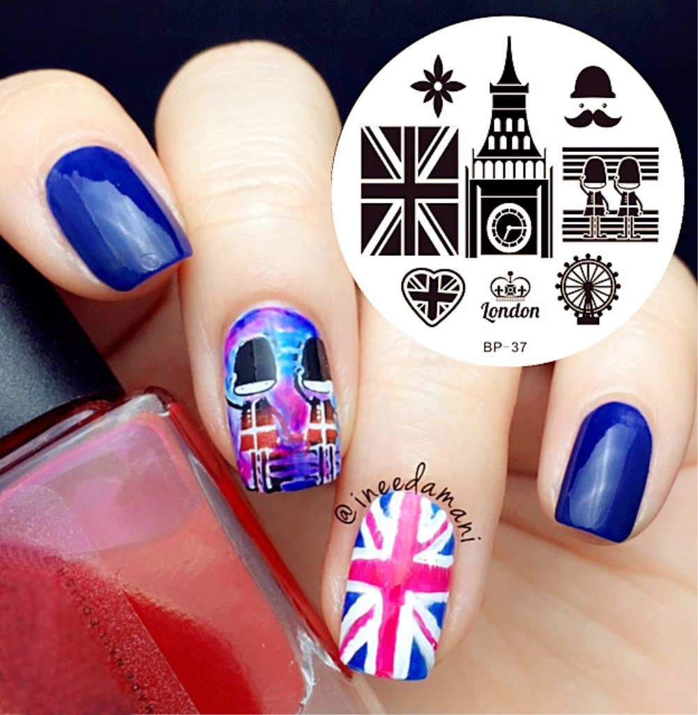 Born Pretty England Style Nail Art Stamping Template Image Plate BP-37